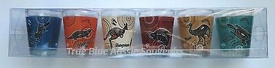 6x Australian Souvenir Shot Glasses - 3 Sets to Choose From