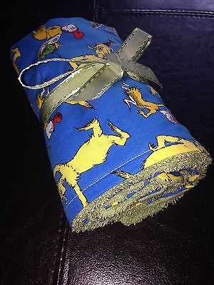 Dr.Seuss green eggs and ham boutique handmade washable roll out changing pad