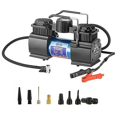 12V AIR COMPRESSOR 2 CYLINDER 50L 160PSI CAR VAN TYRE INFLATOR Battery powered
