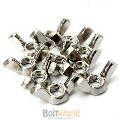 M3 M4 M5 M6 M8 M10 M12 Stainless Steel A2 (304) Wing Nuts To Fit Bolts & Screws
