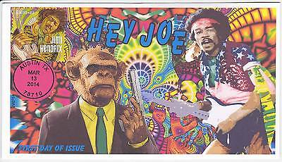 Jvc Cachets - 2014 Jimi Hendrix First Day Cover Fdc Topical Music - Hey Joe
