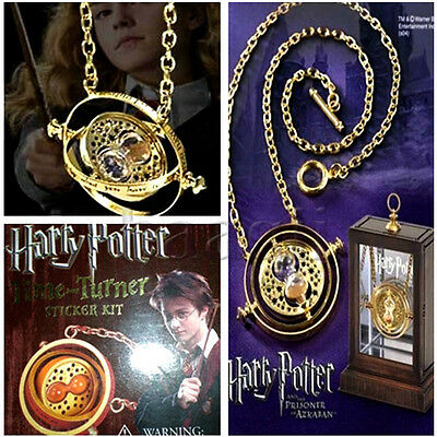 Harry Potter Time Turner Hermione Granger Rotating Spins Gold Necklace Cosplay