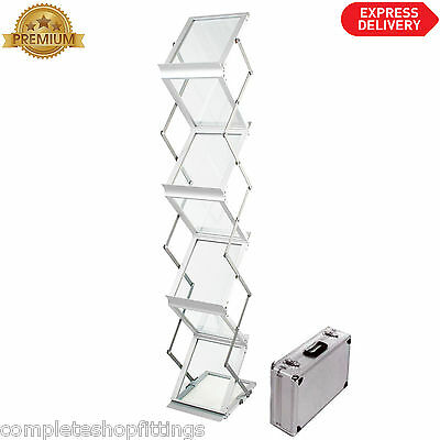A4 Zed Up Lite Folding Literature Stand. Portable Brochure Stand for Trade Shows