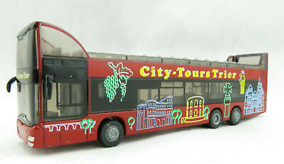 Siku 1829 - SETRA S431DT Doubledecker Bus coach Heavy Metal Tours H0 Scale 1:87