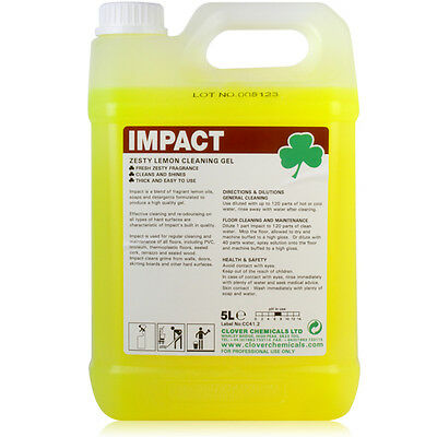 Citrus Hard Surface Heavy Duty Floor Gel Cleaner Maintainer 5 Litres Makes 600L