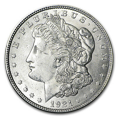 1921 Morgan Silver Dollar Coin - Brilliant Uncirculated