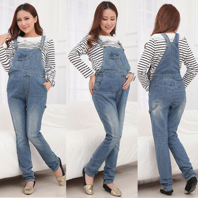 Maternity Jeans Dungarees Pregnancy Pants Overalls Denim Cute Classic 8 10 12 14