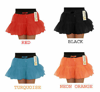 New Crazy Chick Girls 2 Layers Neon Tutu Skirt Fancy Dress Skirts  Age 5-10