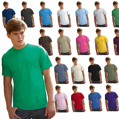 T-Shirt Cotone Uomo Maglia Tinta Unita Da Stampare Fruit Of The Loom Valueweight