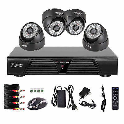 4 Channel CCTV Security DVR Indoor Day Night Camera system H264 Full D1 Solution