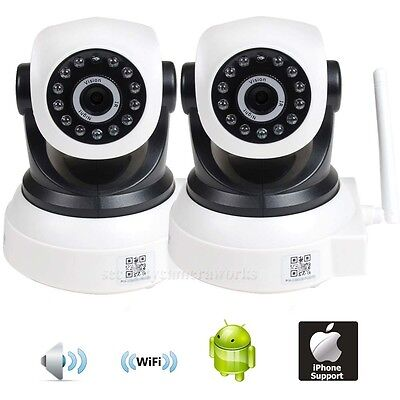 2x Baby Monitor Wireless Wifi IP Network Smartphone IR Night Security Camera BKY