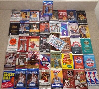 GREAT LOT OF OLD NEW UNOPENED BASKETBALL CARDS IN PACKS AUTO? RC? KOBE? KD? LBJ?