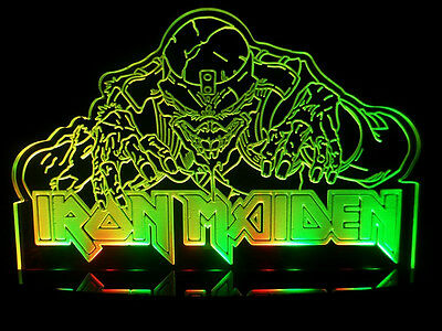 Rare Eddie The Head Iron Maiden Heavy Metal Acrylic LED Lamp Light Beer Bar Sign