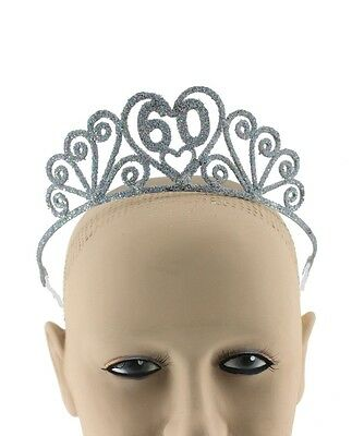 60 Birthday Tiara 60th Birthday Crown Sixtieth