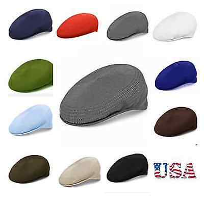 Mesh Newsboy Ventair Flat Golf Hunting Ivy Hat Cabbie Driving Cap Unisex Cap New