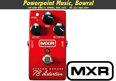 MXR 78 Custom Badass Distortion Pedal BRAND NEW + WARRANTY Free Shipping RRP$159