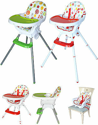3 IN 1 Bebe Style Modern Highchair+Childs Chair+Booster! High Baby Feeding.NEW