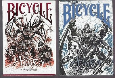 Bicycle Asura Red & Blue 2 Decks Set of Playing Cards New