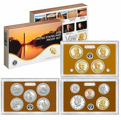 2014 United States 14-coin Clad Proof Set - OGP box & COA Fast Shipping