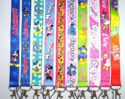 Disney Characters Princess Mickey Minnie Mouse Lanyards Keychain ID Badge Holder