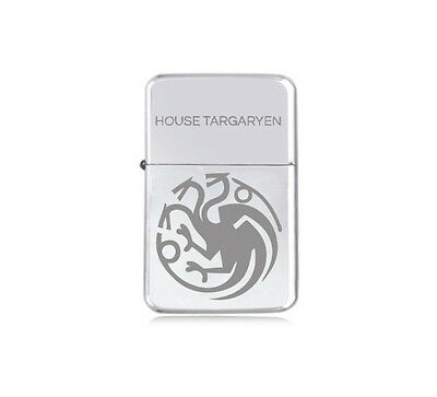 ★STAR★ house TARGARYEN engraved LIGHTER silver black pink gold GAME OF THRONES