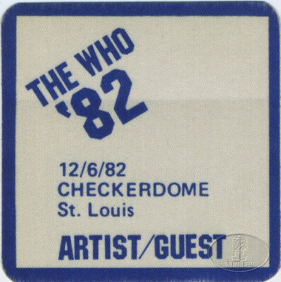 THE WHO 1982 FAREWELL TOUR BACKSTAGE PASS ST. LOUIS Checkerdome