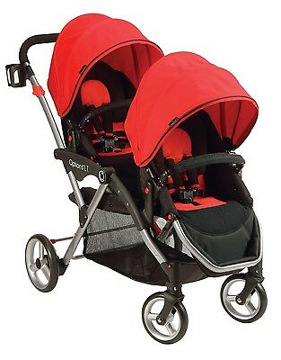 NEW! Contours Options LT Tandem Stroller with 3-position Leg Rests (Red)