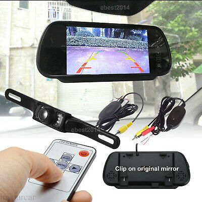"4.3"" TFT LCD Car Rear View Mirror Monitor Dual Screen 4 CH In For Backup Camera"