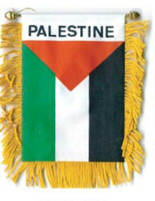 "Wholesale lot 12 Palestine Mini Flag 4/""x6/"" Window Banner w// suction cup"