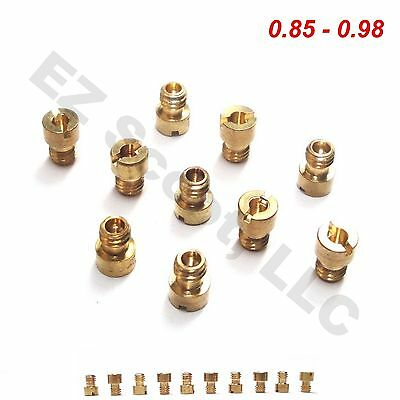 CARBURETOR MAIN JETS 50-80cc  M4 10PIECE 0.85-0.98 GY6 CHINESE 4 STROKE SCOOTER