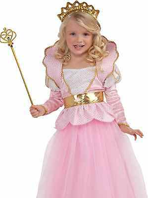 Girls Disney Pink Deluxe Sparkle Princess Queen Dress Costume - Small 4-6 - Fast