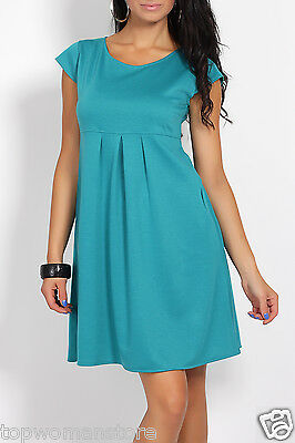 Top Woman Maternity Summer Dress Pregnancy Clothes Short Sleeve Size 10 12 14 16