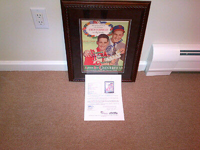 Ted Williams And Stan Musial Auto Original Chesterfield Ad Jsa Framed Awesome!