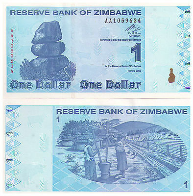 2009 $1 Zimbabwe Banknote - Uncirculated