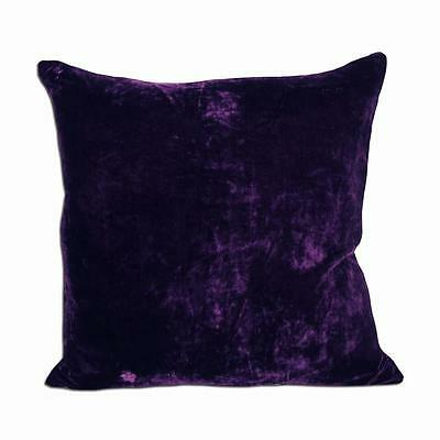 "Comfortable Polyester Velvet Purple Deco Pillow 18""x18"""