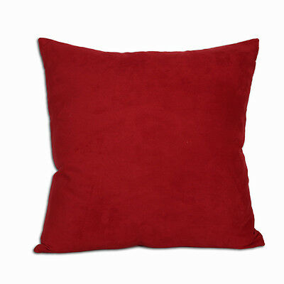 Comfortable Polyester Microsuede Red Deco Pillow 18x18""