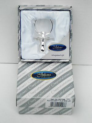 """BABY BIRTH/CHRISTENING GIFT-Silver Plated """"55mm DUMMY"""" in a GIFT BOX-NEW"""
