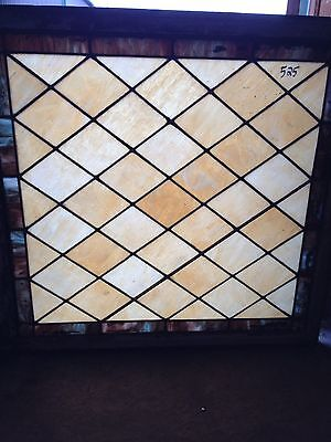 Antique Stain Glass Diamond Pattern Window Sg 40