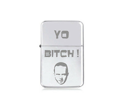 ★STAR★ engraved LIGHTER silver black pink gold JESSE PINKMAN Breaking Bad YO !