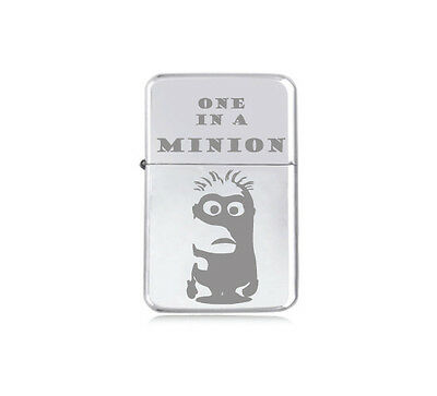 STAR - engraved LIGHTER silver black pink gold 'One in a MINION' DESPICABLE ME