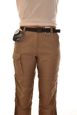 Regatta Ladies Geo Am Zip Off Walking Trousers Pine Bark Travel Camino Rwj037