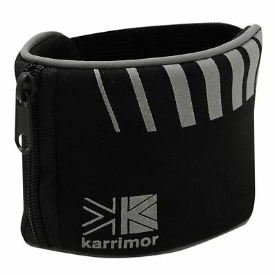 Running/Jogging Zipped Pocket Wrist Band/Wallet for Keys/Money/Valuables. Black