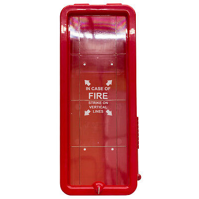 6 PK - 5 lb FireTech Fire Extinguisher Cabinets Indoor/Outdoor RED - Ships Free