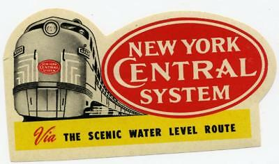 NEW YORK Central RAILROAD - Great Old Luggage Label, c. 1950