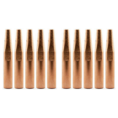 MIG Contact Tips - Long Life- 0.9mm Bernard Style- 10 pack - Conical 51mm - 4281