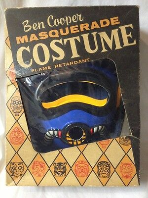 Vintage Halloween Costume JET MAN by Ben Cooper Mask Masquerade Old