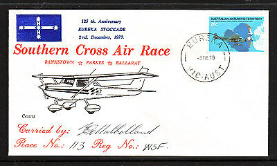 Southern Cross Air Race Cover  Eu 1876   Signed By Pilot.