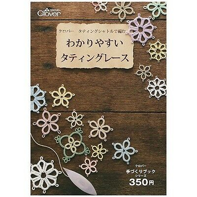 Tatting Lace Instructions Booklet Japan Clover Motif Doily Lacework diagrams F/S