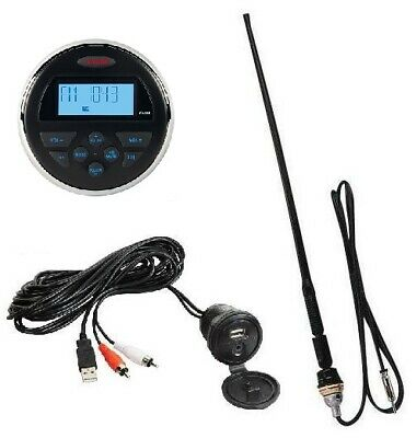 Jensen MS30 Waterproof 80W Radio Antenna AM/FM iPod MP3 USB ATV Boat