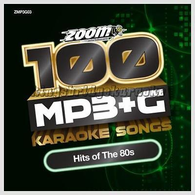 Zoom Karaoke 100 MP3+G Tracks - Hits Of The 80s PC DVD-ROM